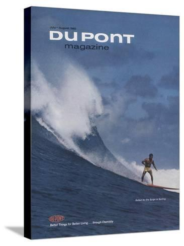Suited for the Surge in Surfing, Front Cover of 'The Du Pont Magazine', July-August 1965--Stretched Canvas Print