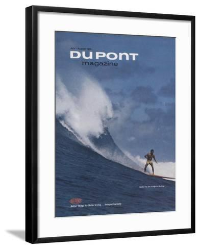 Suited for the Surge in Surfing, Front Cover of 'The Du Pont Magazine', July-August 1965--Framed Art Print