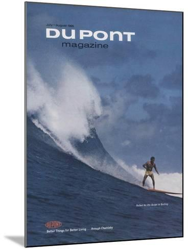 Suited for the Surge in Surfing, Front Cover of 'The Du Pont Magazine', July-August 1965--Mounted Giclee Print