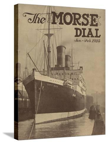 Conte Rosso, Front Cover of the 'Morse Dry Dock Dial', January-February 1923--Stretched Canvas Print