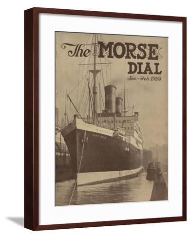 Conte Rosso, Front Cover of the 'Morse Dry Dock Dial', January-February 1923--Framed Art Print