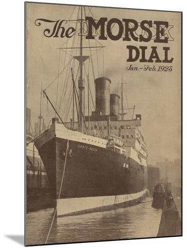 Conte Rosso, Front Cover of the 'Morse Dry Dock Dial', January-February 1923--Mounted Giclee Print