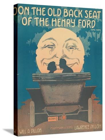Front Cover of the Score of 'On the Old Back Seat of the Henry Ford', C.1935--Stretched Canvas Print