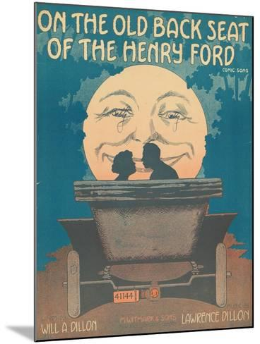 Front Cover of the Score of 'On the Old Back Seat of the Henry Ford', C.1935--Mounted Giclee Print