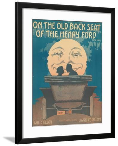 Front Cover of the Score of 'On the Old Back Seat of the Henry Ford', C.1935--Framed Art Print