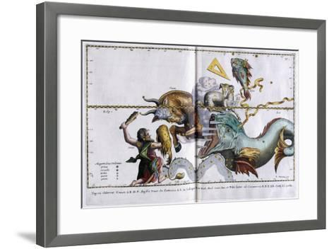 Celestial Map of the Constellations: Orion, Taurus, Aries and Pisces, 1666-1668--Framed Art Print
