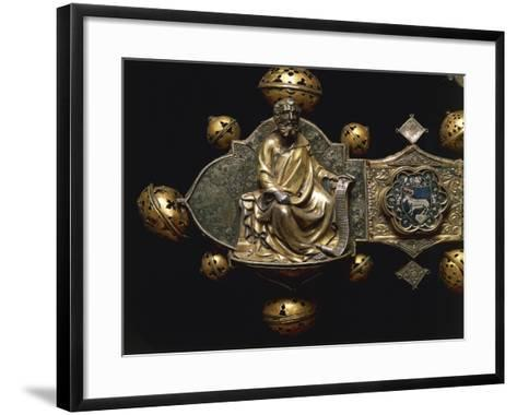 Processional Cross of Saint Maximus, in Silver, Enamel and Copper--Framed Art Print