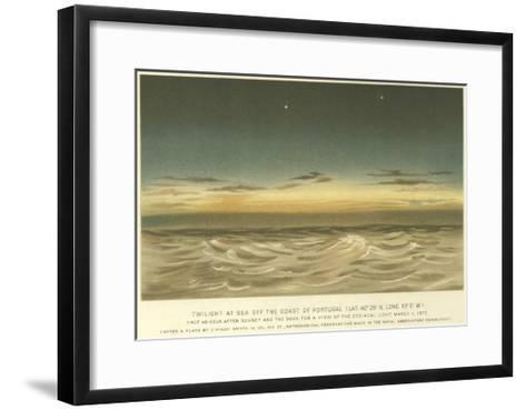 Twilight at Sea Off the Coast of Portugal, Latitude 40° 29' N, Longitude 10° 0' W--Framed Art Print