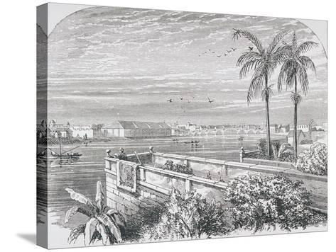 Manila, Philippines, from 'The Gallery of Geography' by Rev. Thomas Milner, Published C.1880--Stretched Canvas Print