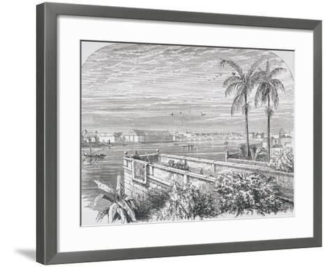 Manila, Philippines, from 'The Gallery of Geography' by Rev. Thomas Milner, Published C.1880--Framed Art Print