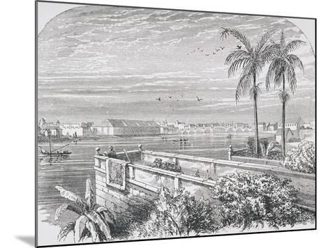 Manila, Philippines, from 'The Gallery of Geography' by Rev. Thomas Milner, Published C.1880--Mounted Giclee Print