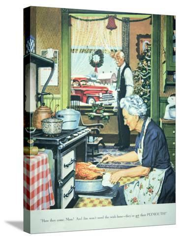 Advert for Plymouth Cars, Published in Collier's Magazine, 27th December, 1947--Stretched Canvas Print
