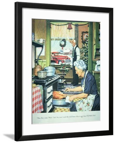 Advert for Plymouth Cars, Published in Collier's Magazine, 27th December, 1947--Framed Art Print