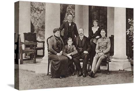 Louis Botha and His Family, from 'The Illustrated War News', Published in 1915--Stretched Canvas Print