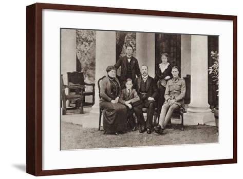 Louis Botha and His Family, from 'The Illustrated War News', Published in 1915--Framed Art Print