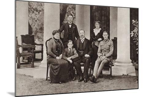 Louis Botha and His Family, from 'The Illustrated War News', Published in 1915--Mounted Giclee Print