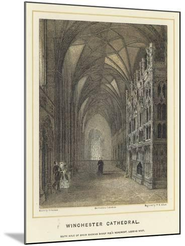 Winchester Cathedral, South Aisle of Choir Showing Bishop Fox's Monument, Looking West--Mounted Giclee Print