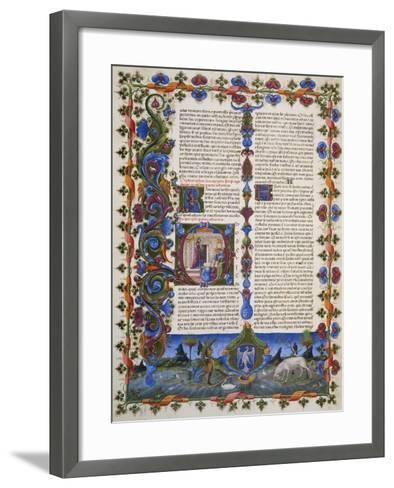 The End of Book of Solomon, from Volume I of Bible of Borso D'Este, Illuminated by Taddeo Crivelli--Framed Art Print