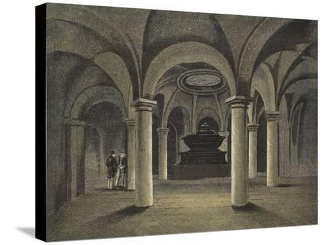 St Paul's Cathedral, the Crypt, Monument of Admiral Viscount Nelson under the Dome--Stretched Canvas Print