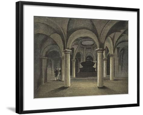 St Paul's Cathedral, the Crypt, Monument of Admiral Viscount Nelson under the Dome--Framed Art Print