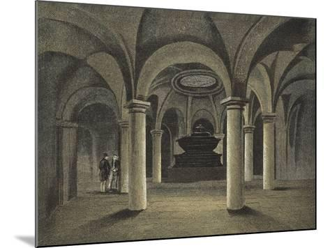 St Paul's Cathedral, the Crypt, Monument of Admiral Viscount Nelson under the Dome--Mounted Giclee Print