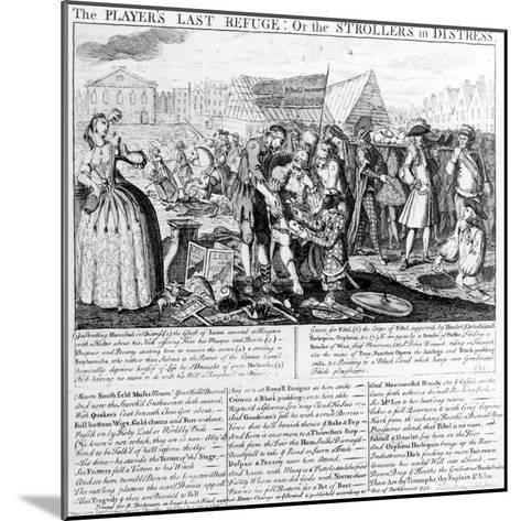 The Player's Last Refuge, or the Strollers in Distress, Published by Bispham Dickinson, 1735--Mounted Giclee Print