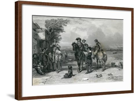 The King on His Journey to the Scots, 1844--Framed Art Print