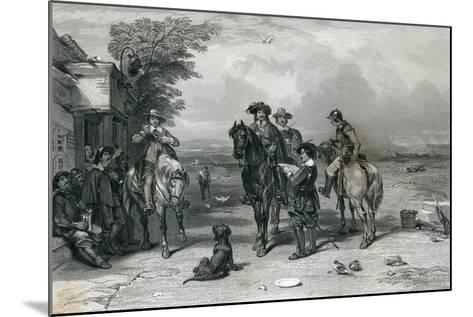 The King on His Journey to the Scots, 1844--Mounted Giclee Print
