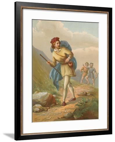 Christian Leaves the City of Destruction, and Is Overtaken by Obstinate and Pliable--Framed Art Print