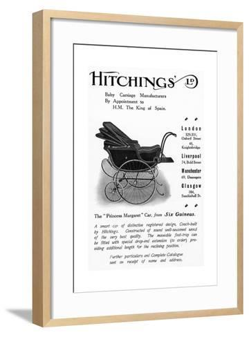 Hitchings 'Princess Margaret' Baby Car, Advertisement from 'Country Life' Magazine, 1913--Framed Art Print