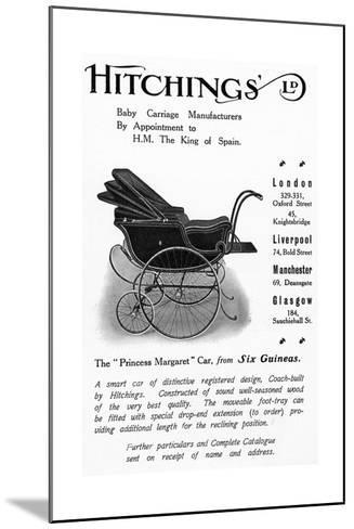 Hitchings 'Princess Margaret' Baby Car, Advertisement from 'Country Life' Magazine, 1913--Mounted Giclee Print