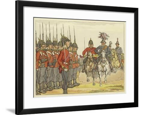 """Alas, How Fiery, and How Sharp He Looks!"" Comedy of Errors, Act IV, Scene 4--Framed Art Print"