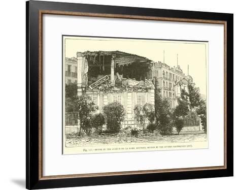 House in the Avenue De La Gare, Mentone, Ruined by the Riviera Earthquake, 1887--Framed Art Print