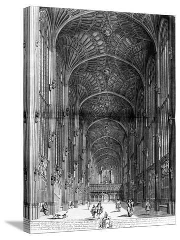 "King's College Chapel, Taken from ""Cantabrigia Illustrata"", Circa 1690--Stretched Canvas Print"