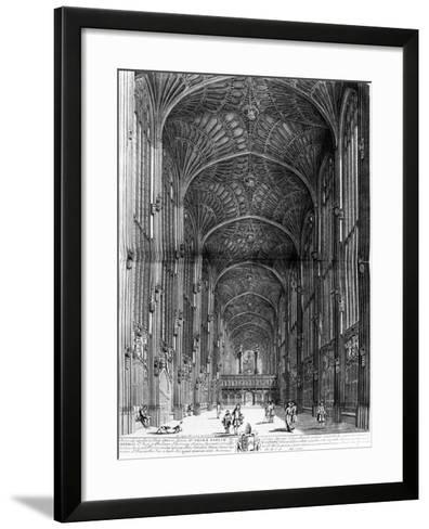 "King's College Chapel, Taken from ""Cantabrigia Illustrata"", Circa 1690--Framed Art Print"