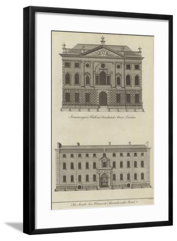 Ironmongers' Hall, Fenchurch Street and the South Sea House, Threadneedle Street, London--Framed Art Print