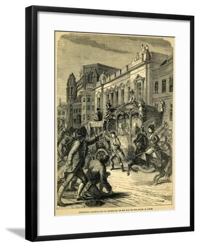 Attempted Assassination of George III on His Way to the House of Lords, 1795--Framed Art Print