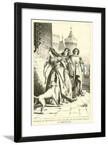 Beatrice De Moreville and Her Maidens on the Ladies' Terrace of Chas Chateil--Framed Art Print