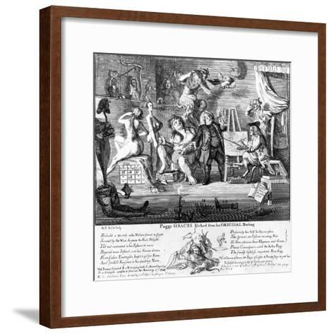 Puggs Graces Estched from His Original Drawings, Print Made by Paul Sandy, 1753--Framed Art Print