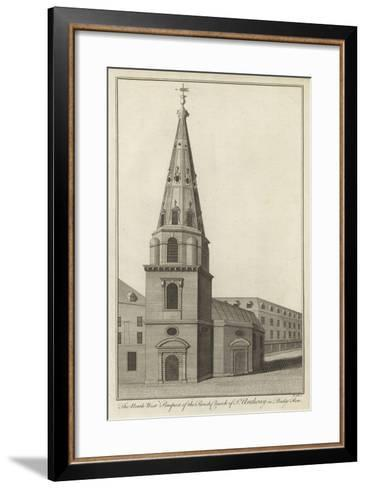 The North West Prospect of the Parish Church of St Anthony in Budge Row, London--Framed Art Print