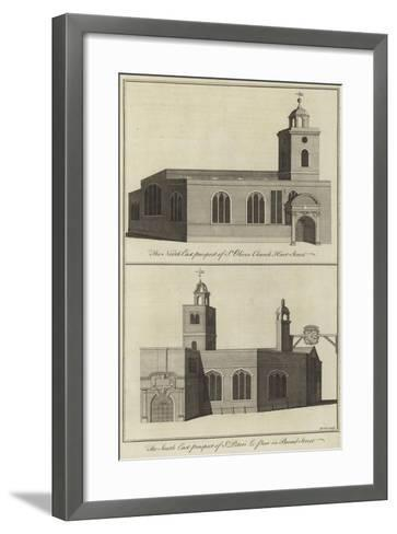 St Olive's Church, Hart Street and Church of St Peter Le Poor, Broad Street, London--Framed Art Print