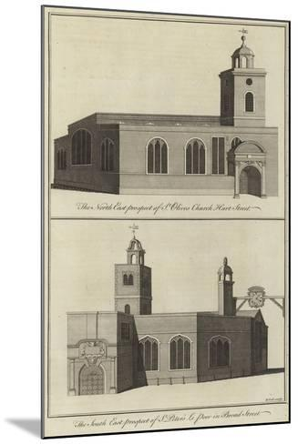 St Olive's Church, Hart Street and Church of St Peter Le Poor, Broad Street, London--Mounted Giclee Print
