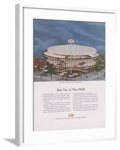 Dupont Pavilion at the New York World's Fair, Page from 'The Du Pont Magazine', 1964--Framed Art Print