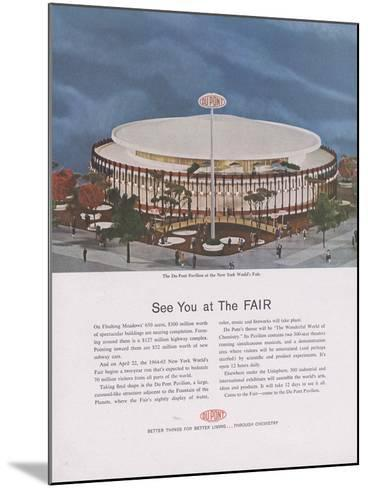 Dupont Pavilion at the New York World's Fair, Page from 'The Du Pont Magazine', 1964--Mounted Giclee Print