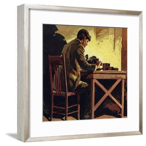 Edison Toiled Non-Stop for Seventy-Two Hours Whilst Inventing the Phonograph--Framed Art Print