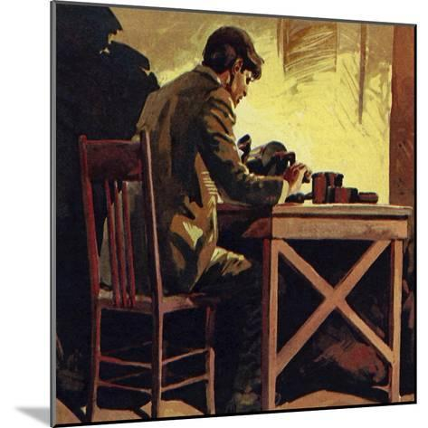 Edison Toiled Non-Stop for Seventy-Two Hours Whilst Inventing the Phonograph--Mounted Giclee Print
