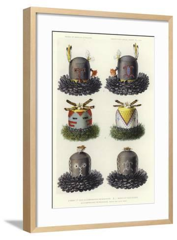 Mask of God Accompanying He'Mishikwe and Masks of Goddesses Accompanying He'Mishikwe--Framed Art Print