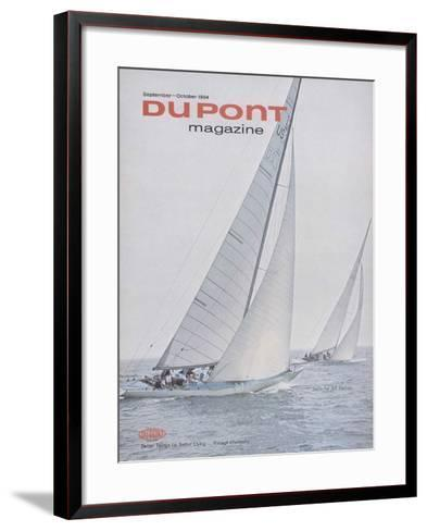 Sails for All Sailors, Front Cover of 'The Du Pont Magazine', September-October 1964--Framed Art Print