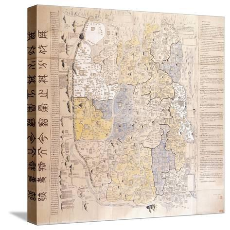 (An Administrative) Map of the 13 Provinces of the North and South Capitals--Stretched Canvas Print