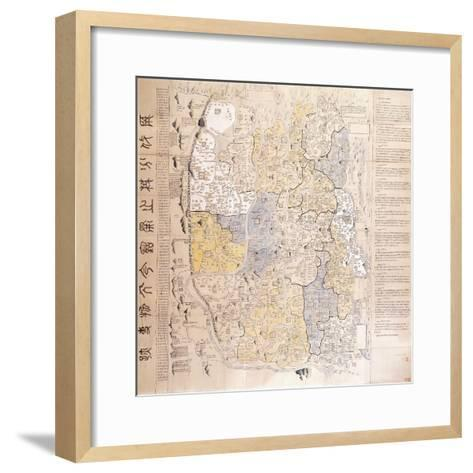 (An Administrative) Map of the 13 Provinces of the North and South Capitals--Framed Art Print